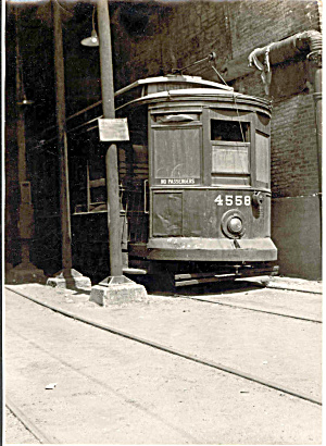 Original Photo of old trolley car 4558 (Image1)