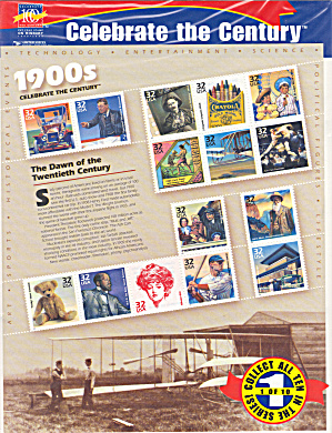 1900s Celebrate The Century Usps Collector Stamps