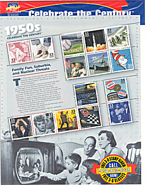 1950s Celebrate the Century USPS collector stamps (Image1)