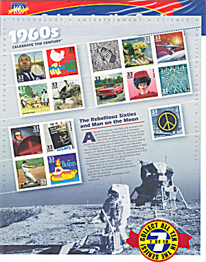 1960s Celebrate the Century USPS collector stamps (Image1)