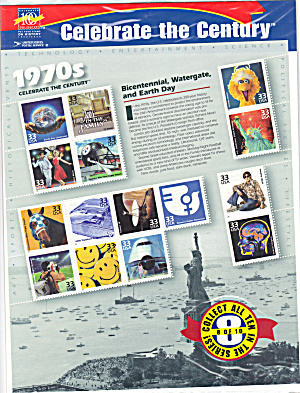 1970s Celebrate the Century USPS collector stamps (Image1)