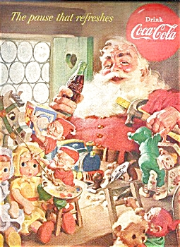 1953 COCA COLA - COKE  CHRISTMAS AD (Image1)