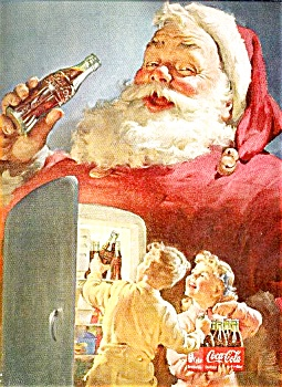 1950 COCA - COLA  SANTA CLAUSE AD SHEET (Image1)