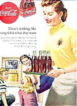 1951 Coca Cola Ad Sheet (Image1)