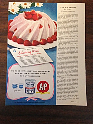 A & P Ad With White House Evaporated Milk