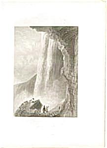 Steel engraving Niagra Falls (Image1)
