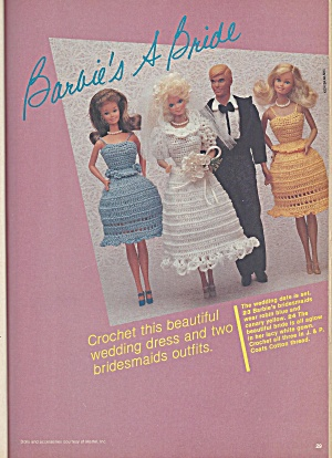 Vintage Knitting & Crochet patterns 1981 Barbie wedding (Image1)