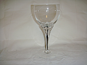 Clear glass stemware with black glass rod in stem (Image1)