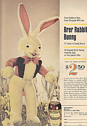 Brer Rabbit Molasses Original Ad For Brer Rabbit Bunny