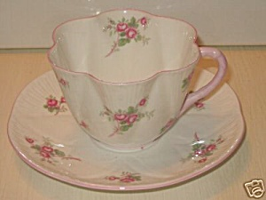 Shelley Bridal Rose Dainty Shape Teacup And Saucer