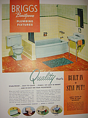 Briggs bathroom fixtures and Lucky Strike ad 1951 (Image1)