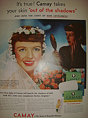 Vintage Ad For Camay Featuring Lovely Bride 1953