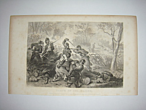 Civil War Steel Engraving 1866 Death of Col Baker (Image1)