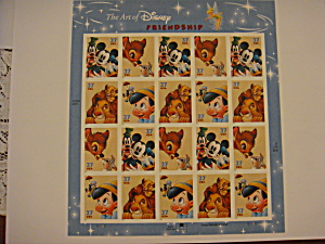 Disney Stamps Full Sheet Titled Friendship