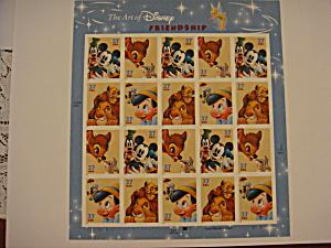 Disney Stamps full sheet titled Friendship (Image1)