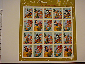 Disney Stamps Full Sheet Titled Celebration