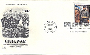 First Day Cover Fdc Civil War Stonewall Jackson 1995