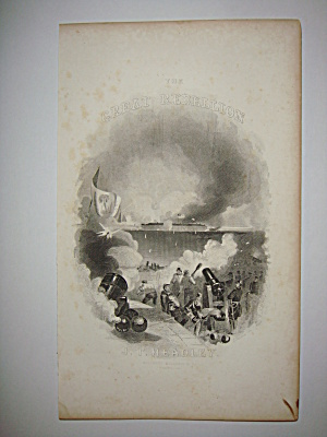 Civil War Steel Engraving 1866 font page Headley's book (Image1)
