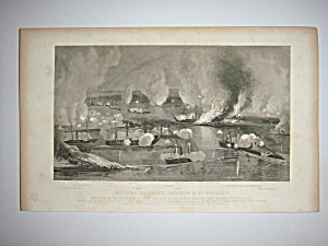 Civil War Steel Engraving 1866 Capture of Fort Jackson (Image1)