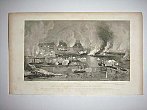 Civil War Steel Engraving 1866 Capture of Fort Jackson (Image1)