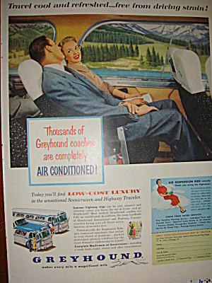 Greyhound 1955 Ad Also Howard Johnson's