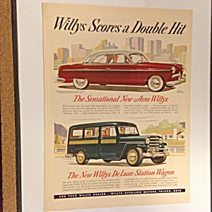 Original 1950s Willys New Aero And Deluxe Station Wagon
