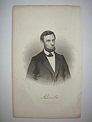 Civil War Steel Engraving Abraham Lincoln (Image1)