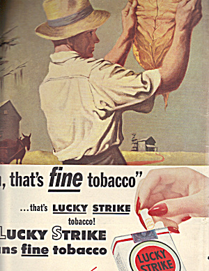 1944 Lucky Strike Ad Depicting Farmer