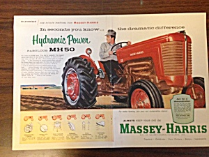 Massey-harris Ad For Tractor