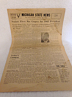 Michigan State News college papers 1945 (Image1)