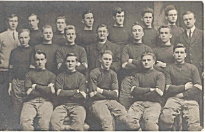 Real photo postcard photo early football team (Image1)