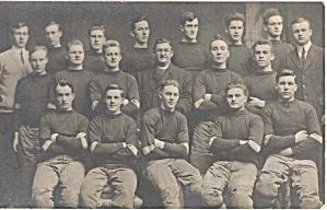 Real photo postcard photo early football team (Image1)