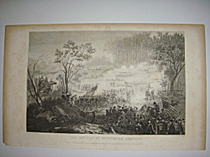 Civil War Steel Engraving 1866 The Pittsburg Landing (Image1)