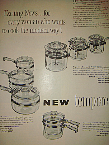 Original 1952 Pyrex Flameware Ad