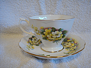Royal Albert Teacup And Saucer Yellow Cosmos