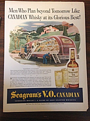 Vintage Ad Seagram's Depicting The Future For Shoppers