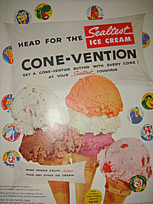 Vintage 1956 Sealtest ad with circus theme (Image1)