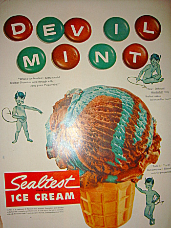 Devil Mint Sealtest Ice Cream ad (Image1)