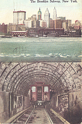 The Brooklyn Subway, New York postcard (Image1)