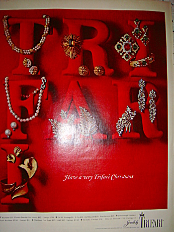 Jewels by Trifari ad for Christmas 1965 (Image1)