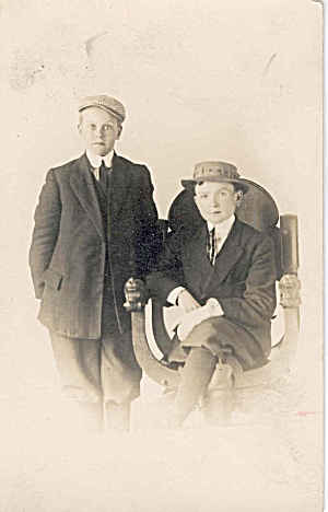 Real photo postcard of two young boys (Image1)