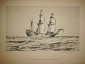 Ships of the Seven Seas prints by Norman Wilkinson 1938 (Image1)