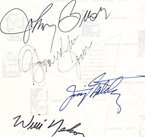 Willie Nelson, Johnny Bush, Grandpa Jones autographs  (Image1)