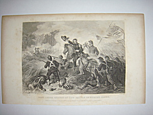 Civil War Steel Engraving 1866 Battle of Wilsons Creek (Image1)