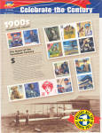 Click here to enlarge image and see more about item 1900stamps: 1900s Celebrate the Century USPS collector stamps