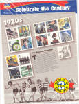 Click here to enlarge image and see more about item 1920stamps: 1920s Celebrate the Century USPS collector stamps