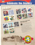 Click here to enlarge image and see more about item 1930stamps: 1930s Celebrate the Century USPS collector stamps
