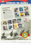 Click here to enlarge image and see more about item 1940stamps: 1940s Celebrate the Century USPS collector stamps