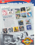 Click here to enlarge image and see more about item 1950stamps: 1950s Celebrate the Century USPS collector stamps