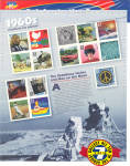 1960s Celebrate the Century USPS collector stamps